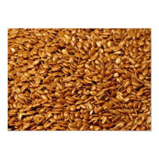 """Flax seed 5"""" x 7"""" invitation card"""