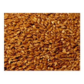 Flax seed post card