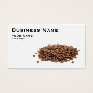 Flax seeds business card