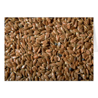 Flax seeds greeting cards