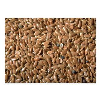 """Flax seeds 5"""" x 7"""" invitation card"""