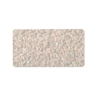 Flax seeds address label