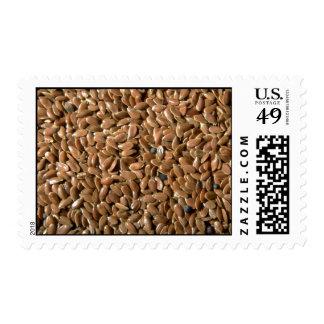 Flax seeds stamp