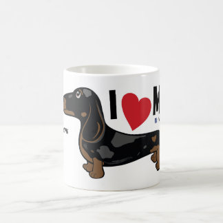 "FLDR ""I Love My"" Smooth Dapple Dachshund Mug. Coffee Mug"