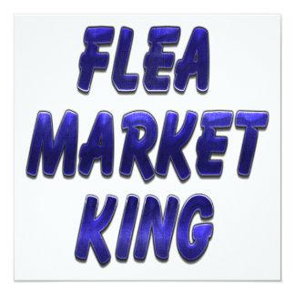 Flea Market King Blue 5.25x5.25 Square Paper Invitation Card