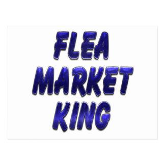 Flea Market King Blue Postcard