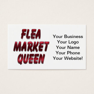 Flea Market Queen Red Business Card