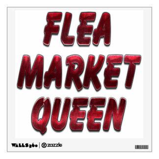 Flea Market Queen Red Wall Sticker