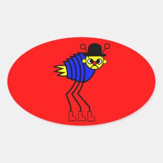 Flea Oval Sticker