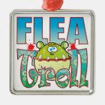 Flea Troll Square Metal Christmas Ornament