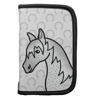 Fleabitten Grey Cartoon Horse Head Organizer