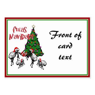 FLEAS NAVIDAD - Christmas Fleas and Christmas Tree Business Card Templates