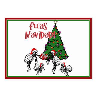 FLEAS NAVIDAD - Christmas Fleas and Christmas Tree Business Cards