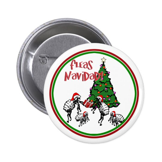 FLEAS NAVIDAD - Christmas Fleas and Christmas Tree Button