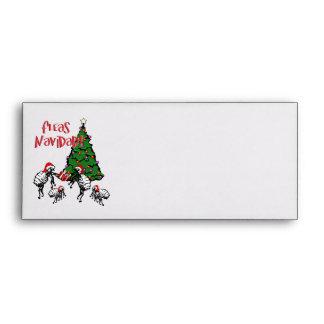 FLEAS NAVIDAD - Christmas Fleas and Christmas Tree Envelopes