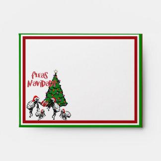 FLEAS NAVIDAD - Christmas Fleas and Christmas Tree Envelope