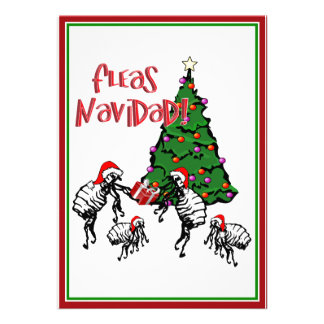 FLEAS NAVIDAD - Christmas Fleas and Christmas Tree Invites