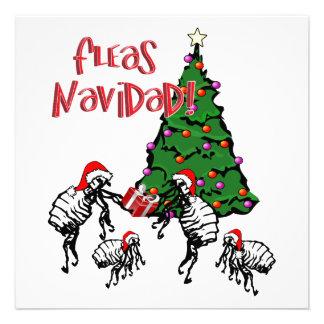 FLEAS NAVIDAD - Christmas Fleas and Christmas Tree Custom Invitation