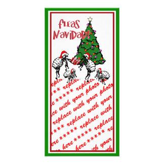 FLEAS NAVIDAD - Christmas Fleas and Christmas Tree Photo Card