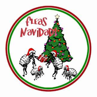 FLEAS NAVIDAD - Christmas Fleas and Christmas Tree Photo Cutout