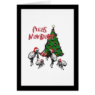 Fleas Navidad - Christmas Fleas and Tree Card