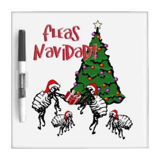 Fleas Navidad - Christmas Fleas and Tree Dry-Erase Board