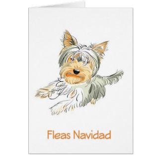Fleas Navidad Cute Terrier Christmas Card