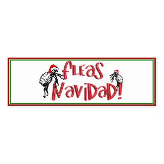 Fleas Navidad - Dancing Christmas Fleas Business Card Template