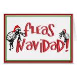 Fleas Navidad - Dancing Christmas Fleas Greeting Card