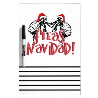 Fleas Navidad - Dancing Christmas Fleas Dry-Erase Boards