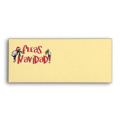 Fleas Navidad - Dancing Christmas Fleas Envelopes
