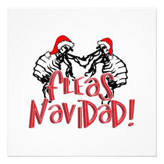 Fleas Navidad - Dancing Christmas Fleas Invitation