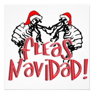 Fleas Navidad - Dancing Christmas Fleas Invitations