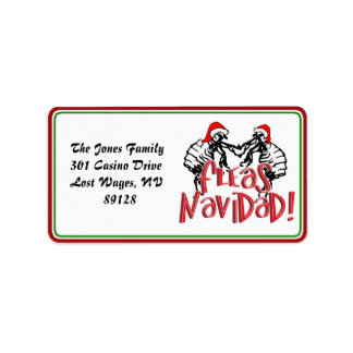 Fleas Navidad - Dancing Christmas Fleas Address Label