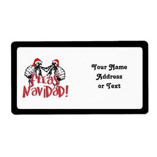 Fleas Navidad - Dancing Christmas Fleas Labels