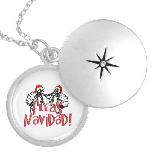 Fleas Navidad - Dancing Christmas Fleas Necklace