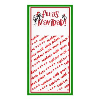 Fleas Navidad - Dancing Christmas Fleas Custom Photo Card