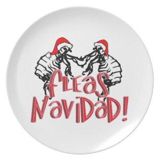 Fleas Navidad - Dancing Christmas Fleas Plate