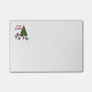 Fleas Navidad - Dancing Christmas Fleas Post-it Notes