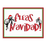 Fleas Navidad - Dancing Christmas Fleas Postcard