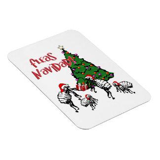 Fleas Navidad - Dancing Christmas Fleas Vinyl Magnets
