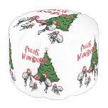 Fleas Navidad - Dancing Christmas Fleas Round Pouf