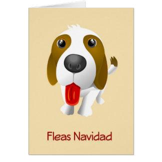 Fleas Navidad Funny Dog Christmas Card