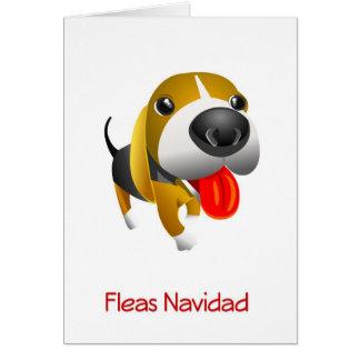 Fleas Navidad Hound Dog Christmas Card