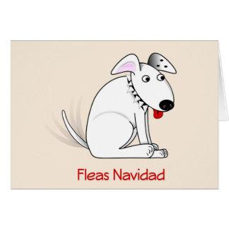 Fleas Navidad Humorous Dog Christmas Card