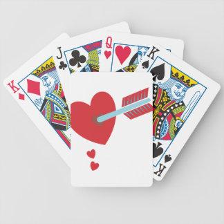 Flecha a través del corazón baraja de cartas bicycle