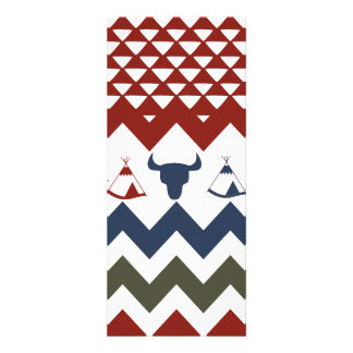 Flecha azul roja de los cráneos del tipi de Chevro Comunicado