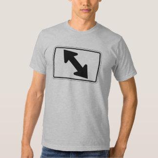 Flecha bidireccional (1), señal de tráfico, los camisas