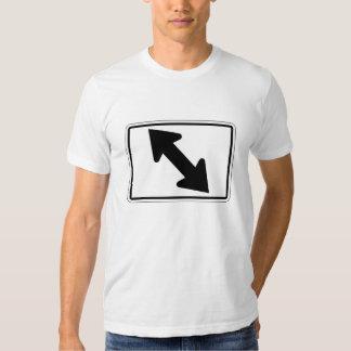 Flecha bidireccional (1), señal de tráfico, los playera