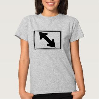 Flecha bidireccional (1), señal de tráfico, los polera